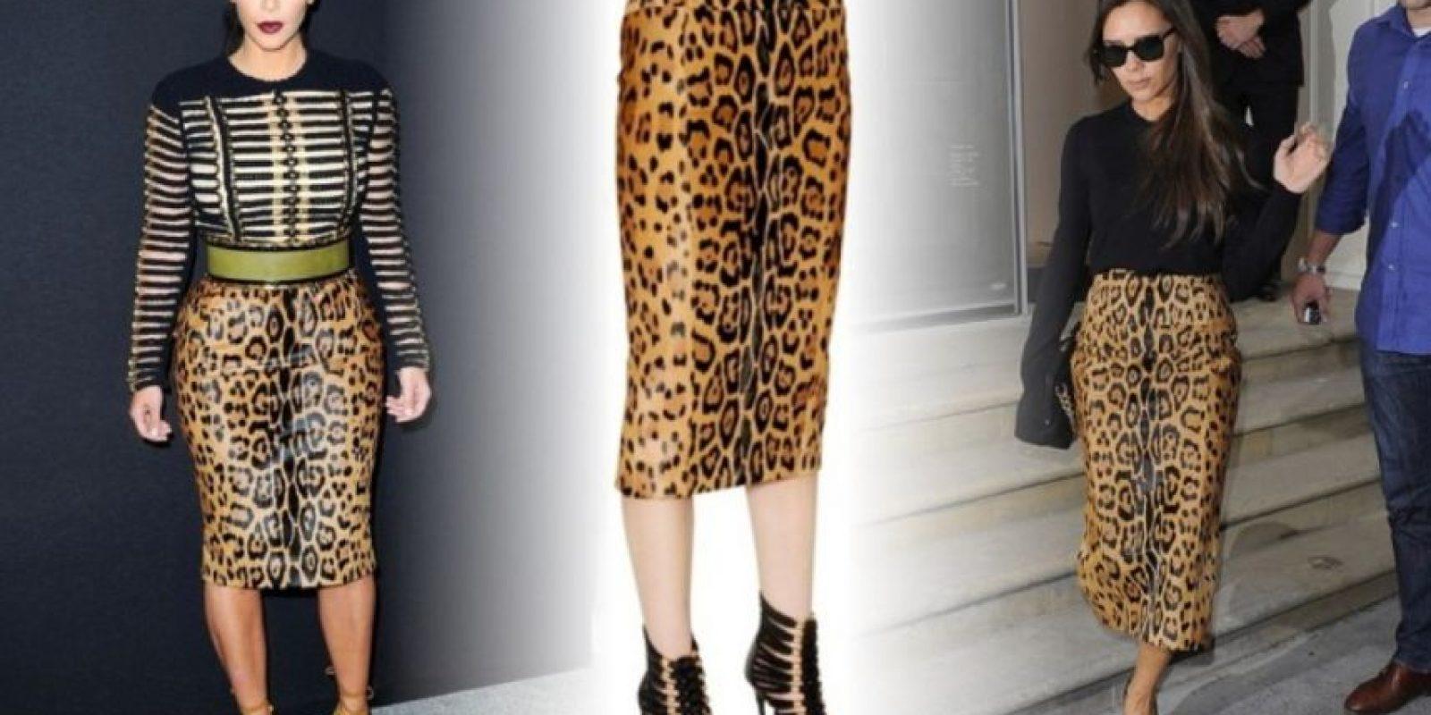 Esta falda también de Balmain (comparen la de Victoria, por favor) Foto:KimStyleGuide/Tumblr