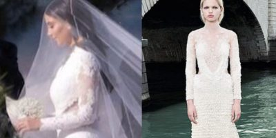 El Givenchy con el que se casó. Foto:KimStyleGuide/Tumblr