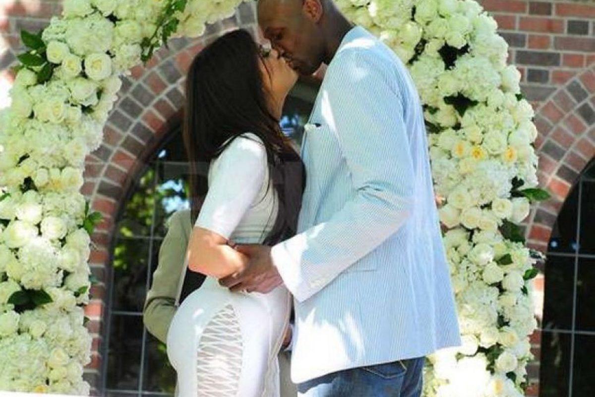 Khloé y Lamar se casaron en California a sus 25 y 29 años, respectivamente. El enlace ocurrió el 27 de septiembre de 2009. Foto:Grosby Group