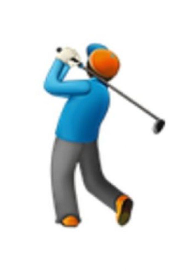 Golfista. Foto:vía emojipedia.org