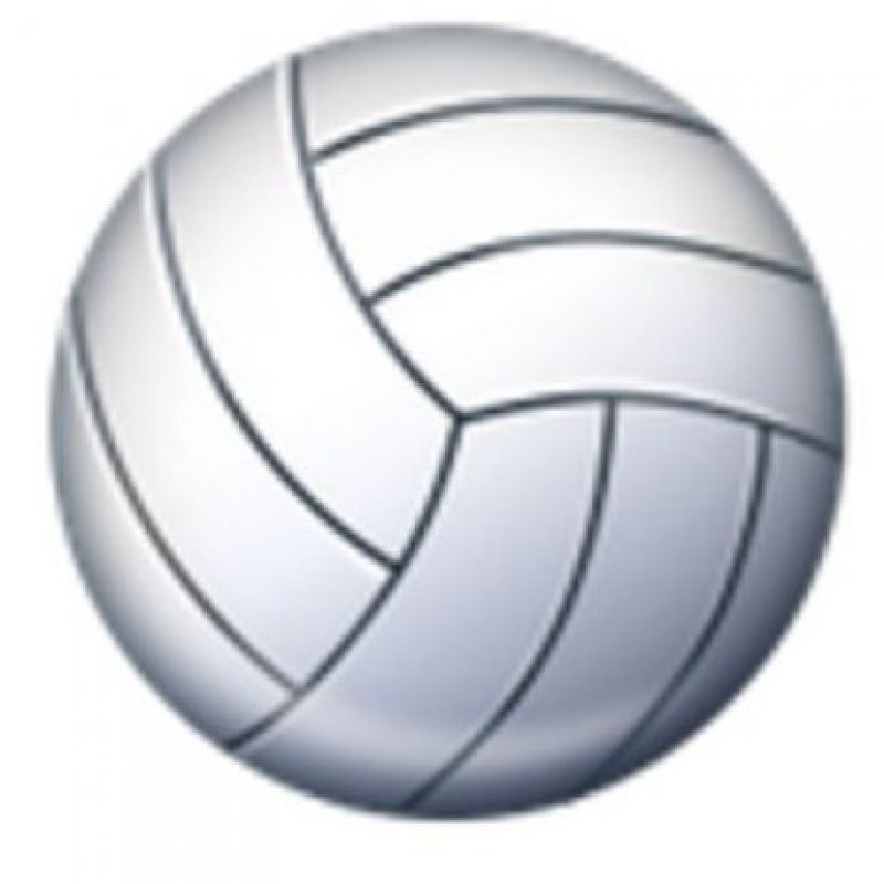 Balón de voleibol. Foto:vía emojipedia.org