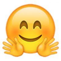 Rostro sonrojado con manos extendidas. Foto:vía emojipedia.org