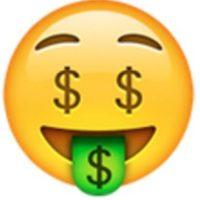 Rostro de dinero. Foto:vía emojipedia.org