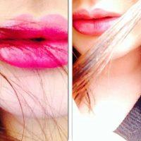 ¿Les ha pasado que el cabello parece amar el gloss y se pega en cualquier momento a los labios? Foto:Vía Instagram/#LipstickFail