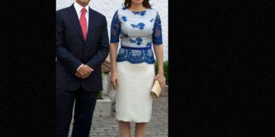 El vestido Valentino que usó en Inglaterra costó 3 mil 300 dólares. Foto:vía Página Oficial Angélica Rivera