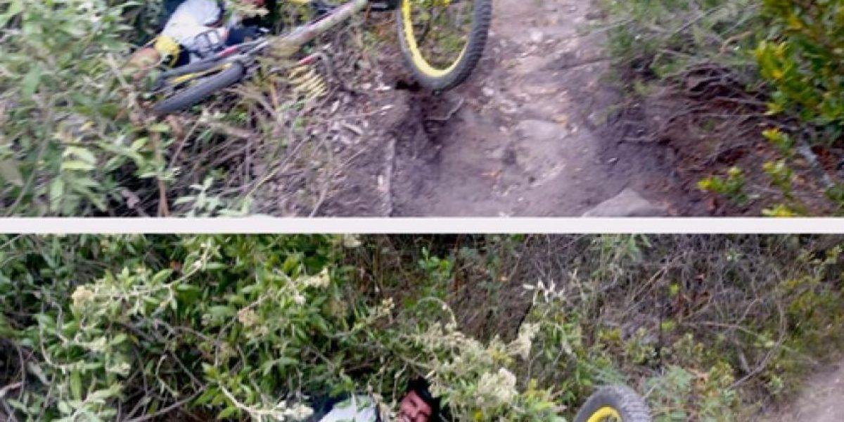 Así fue la caída de Juan Pablo Raba en su bicicleta