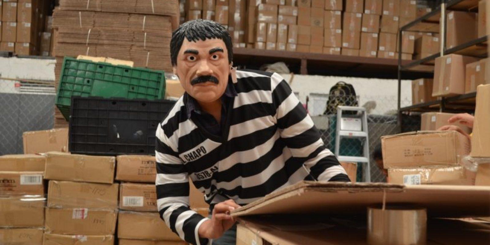Joaquín, el Chapo, Guzmán 'aparecerá' en las calles este Halloween luego de su fuga del Penal del Altiplano Foto:Carmen Ortega