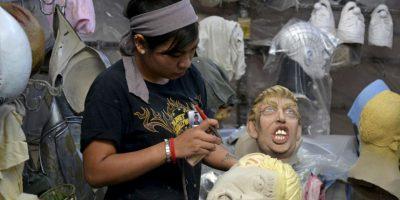 Así es el proceso de fabricación de las máscaras. Foto:AP