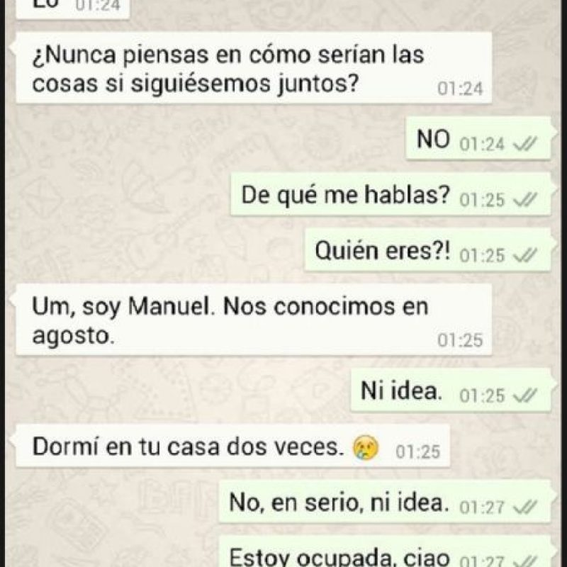 Conversaciones de exnovios en Whatsapp Foto:Vía Tumblr