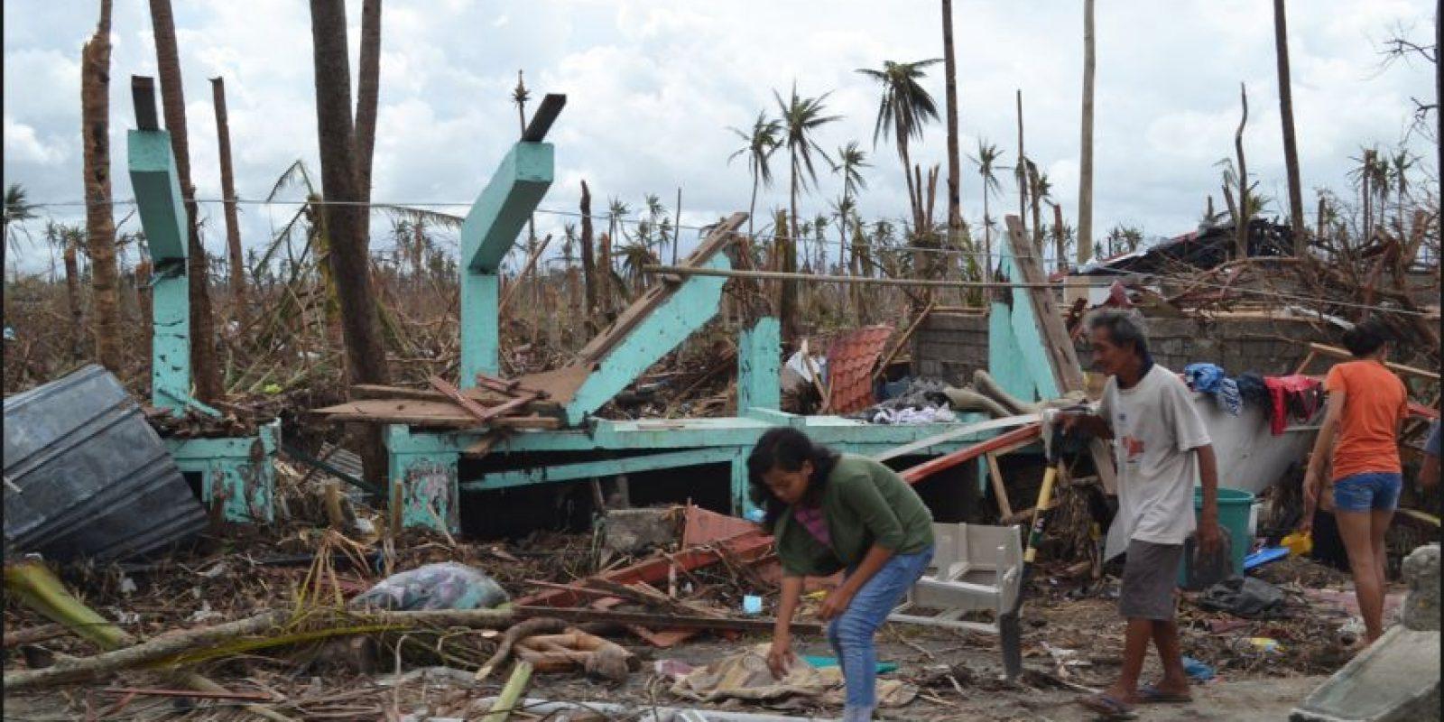 El tifón Haiyan o Yolanda el 2 de noviembre de 2013. Uno de los ciclones tropicales más intensos en la historia moderna. Mató a 6 mil 300 personas. Foto:Vía Wikimedia Commons