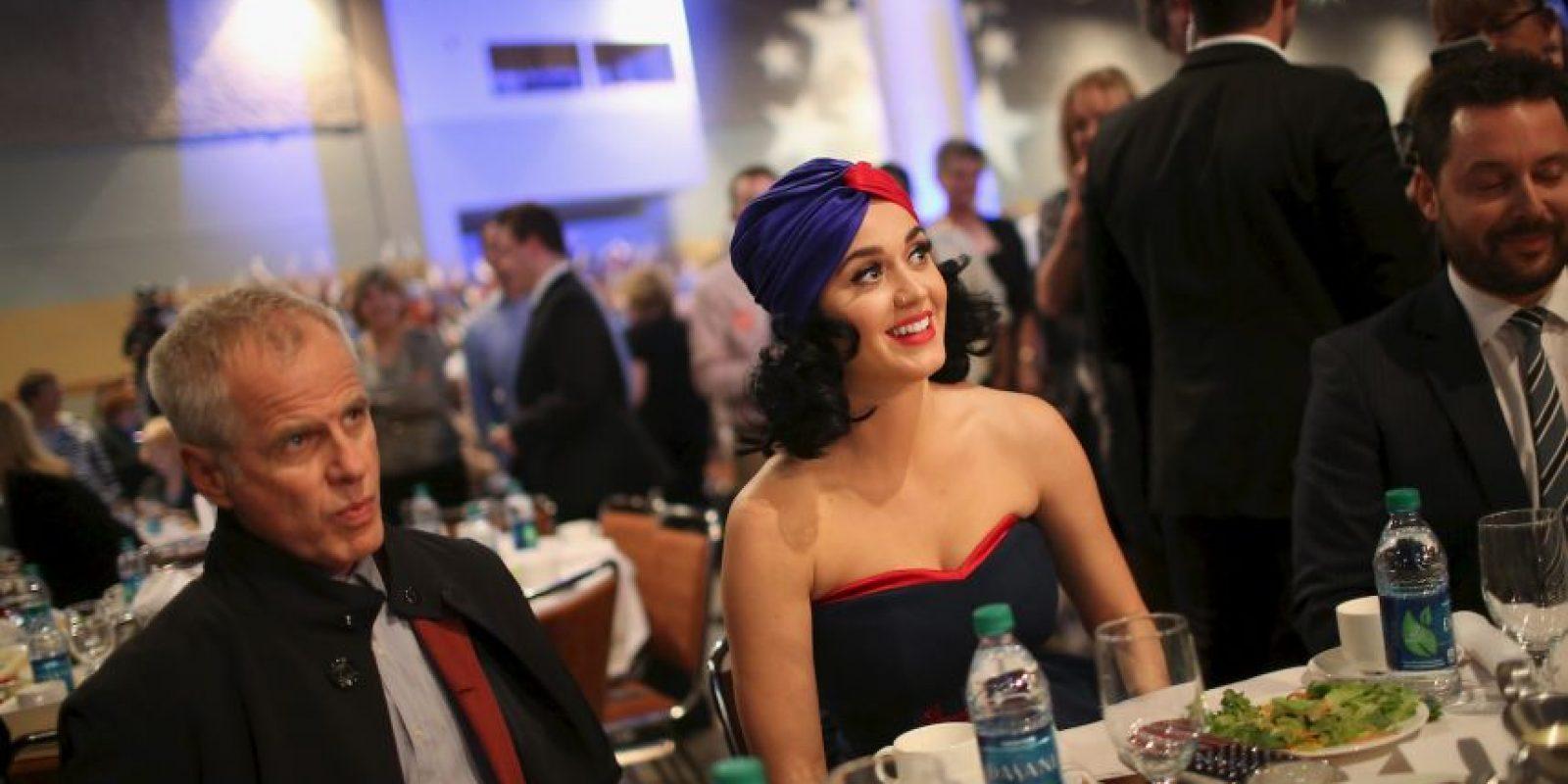 Luego de la presentación de la cantante hubo una cena con los seguidores democratas Foto:AFP