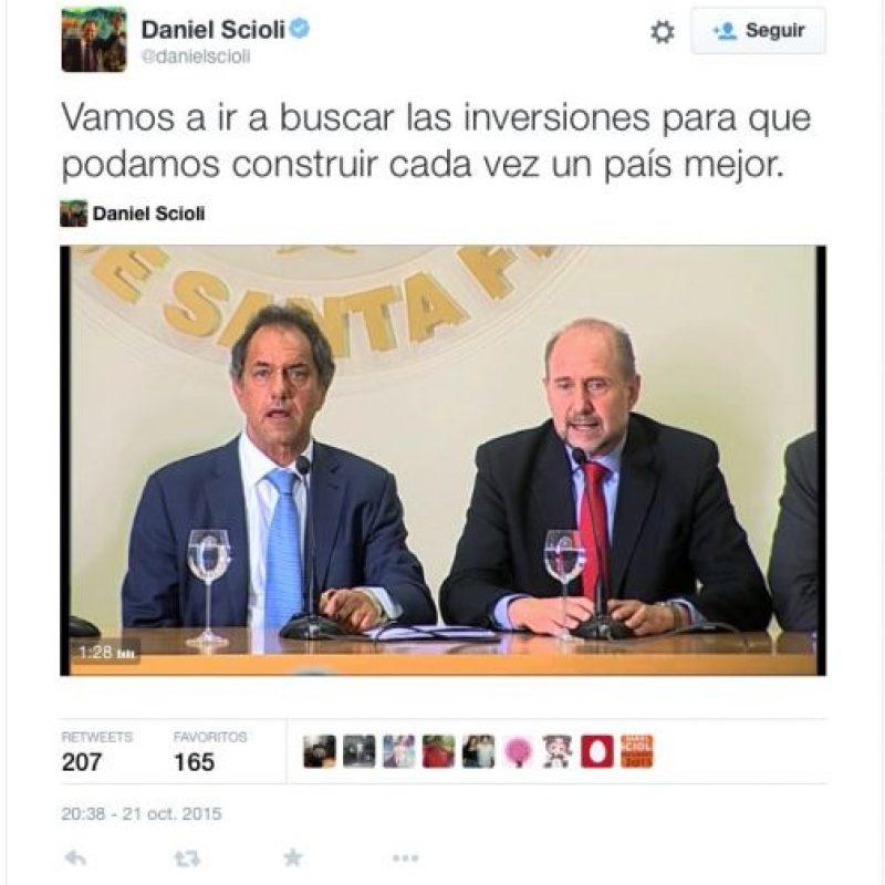 Daniel Scioli, oficialista del FPV Foto:Twitter.com