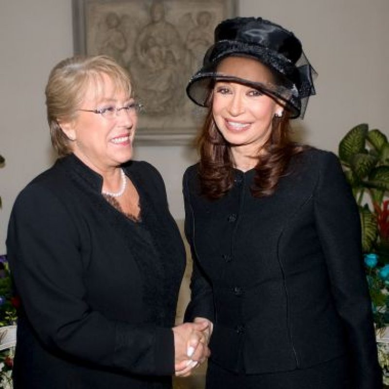 Y con Michelle Bachelet Foto: Getty Images
