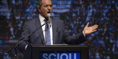 """Mientras Scioli anunciaba una """"victoria"""" Foto:AFP"""