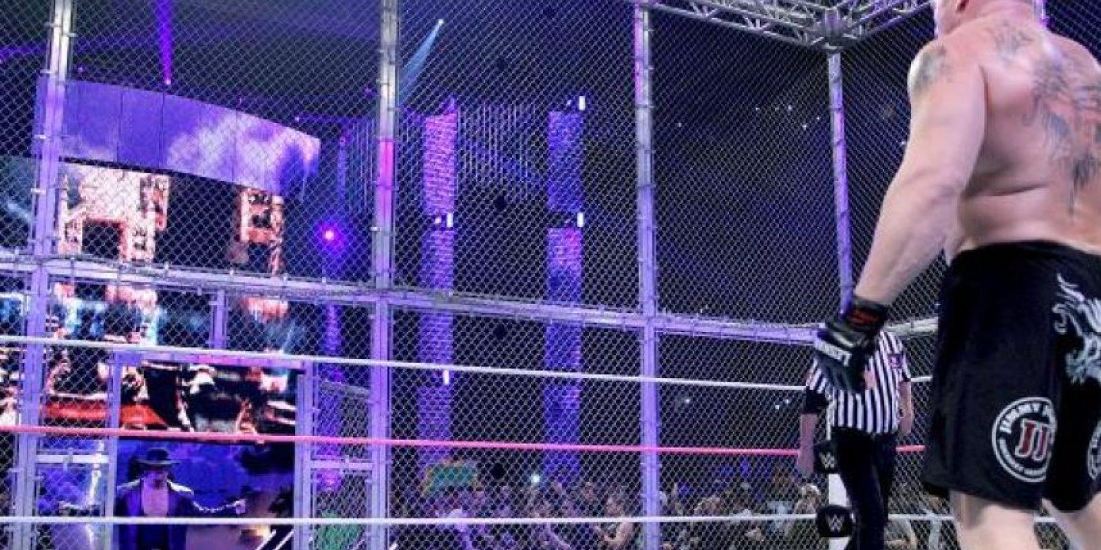 Así fueron las mejores imágenes del combate Foto:WWE