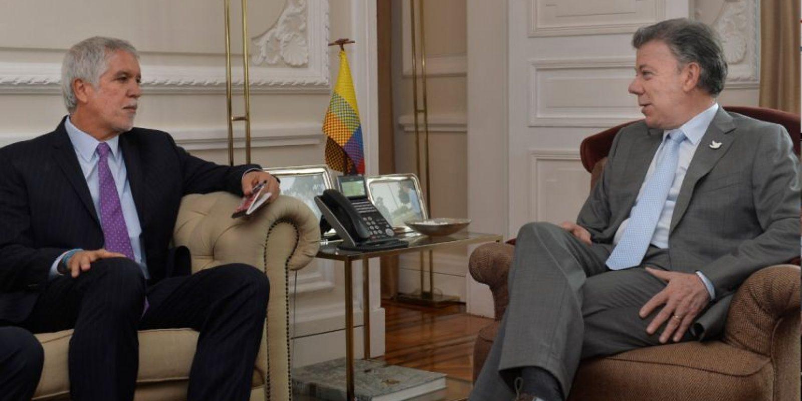 Primera reunión entre el alcalde electo de Bogotá, Enrique Peñalosa, y el presidente Juan Manuel Santos. Foto:Presidencia