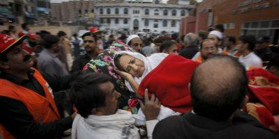 Incluso, se llegó a sentir con fuerza en India Foto:AP