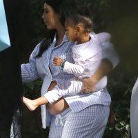 Kim Kardashian y North West Foto:Grosby Group