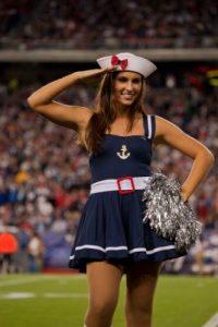 Y ella, de los Patriotas de Nueva Inglaterra. Foto:Getty Images