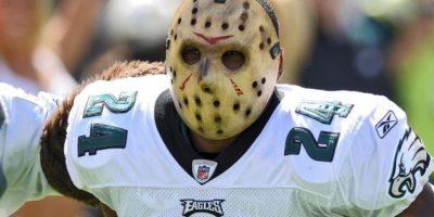 Con esta máscara apareció en 2009, Sheldon Brown, esquinero de las Águilas de Filadelfia. Foto:Getty Images