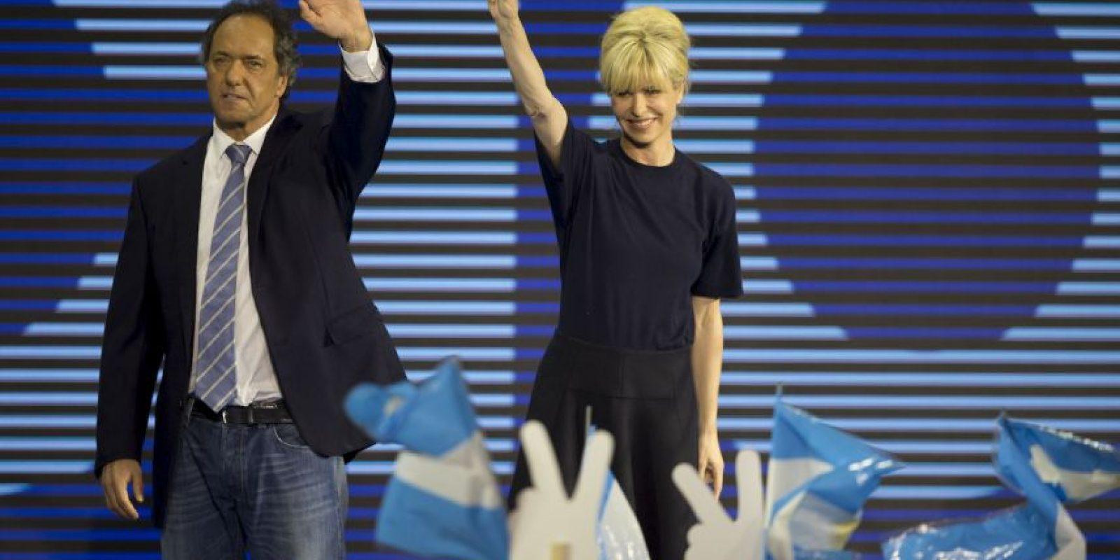 Está casado con la exmodelo Karina Rabolini Foto:AFP