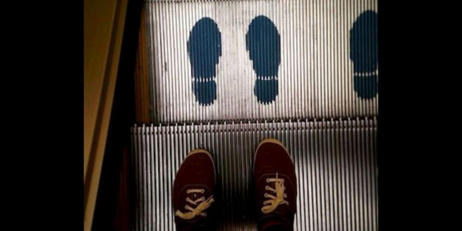 No usar estas escaleras en estado de embriaguez Foto:Instagram.com/explore/tags/escalator/