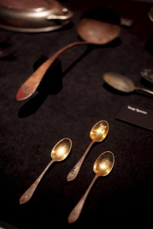 En las exhibiciones se puede apreciar los lujosos cubiertos con los que comían Foto:Getty Images