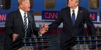 """Recientemente Donald Trump y Jeb Bush sostuvieron una """"batalla"""" a través de Twitter por los atentados del 9/11. Foto:Getty Images"""