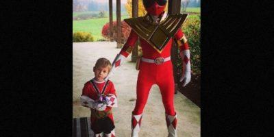 """En Halloween pasado, Justin Bieber sorprendió con este disfraz del """"Power Ranger"""" Foto: instagram.com/justinbieber"""