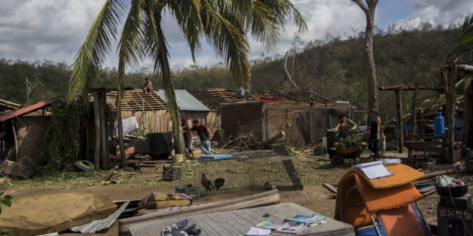Estragos causados por el Huracán Patricia en México. Foto:AFP