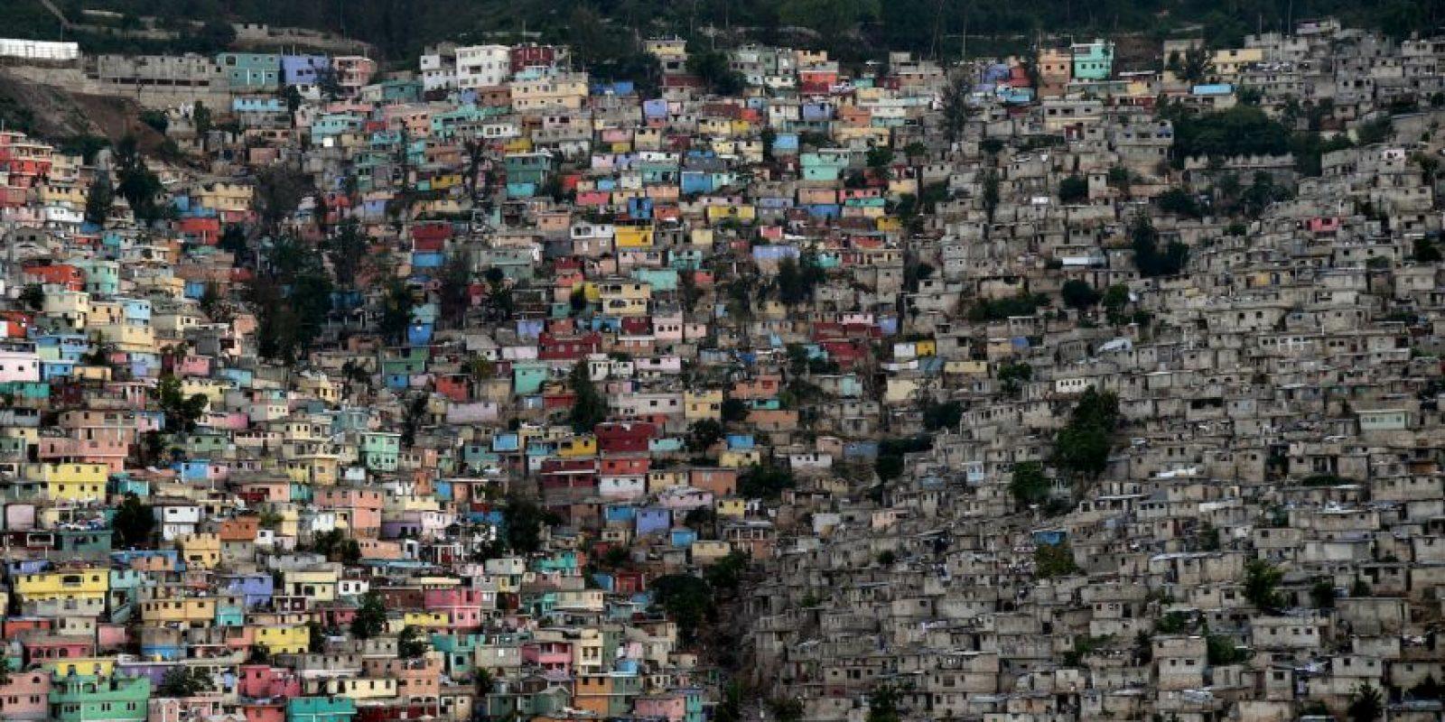 La vista de una comuna en Haití. Foto:AFP