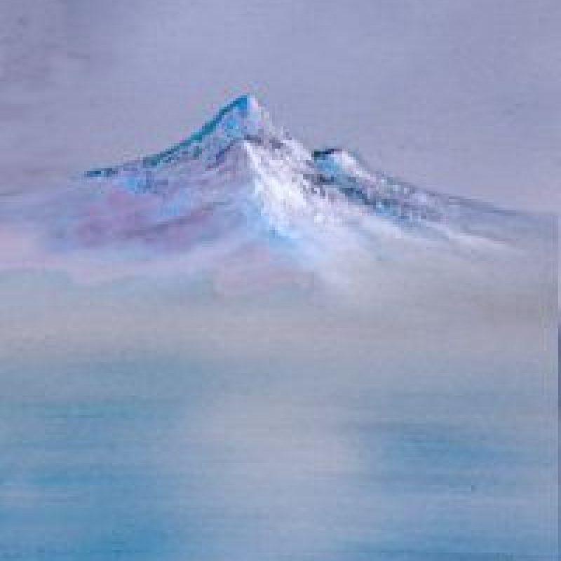 Paso 5: Añadan los picos con una mezcla de blanco y azul Foto:vía Facebook/The Joy of Painting