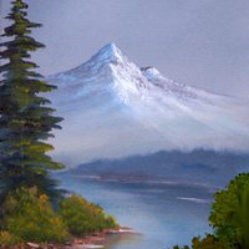 Paso 11: Agregue un arbusto en primer plano Foto:vía Facebook/The Joy of Painting