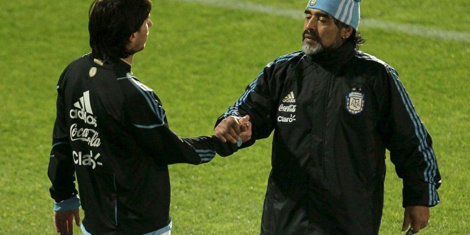 Y junto con Pelé, se disputan el título al mejor de la historia. Foto:Getty Images