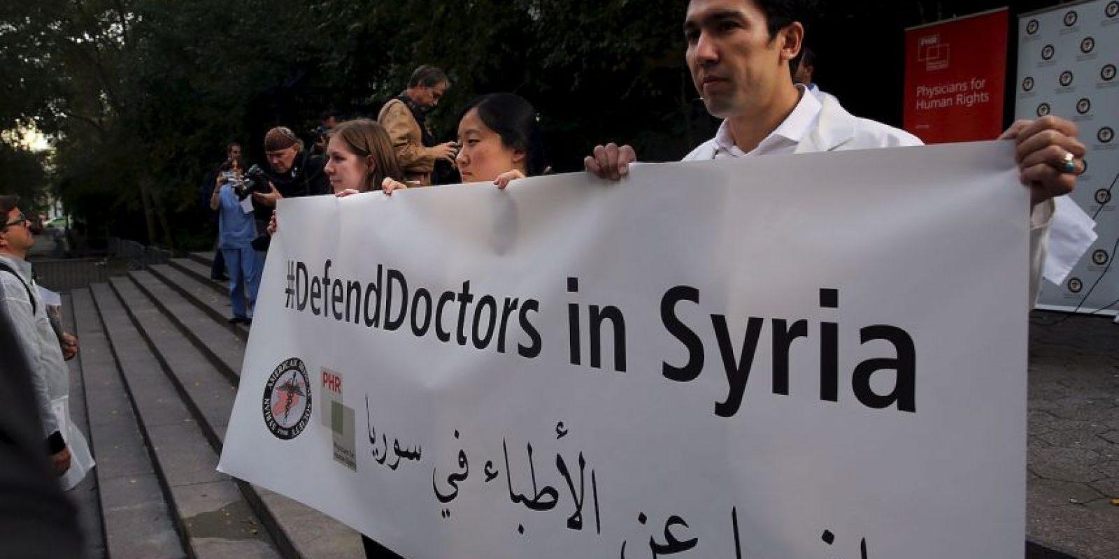 Lanzaron la campaña #DefendDoctors en el lugar. Foto:Getty Images