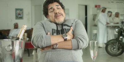 Se vistió de Maradona. Foto:YouTube