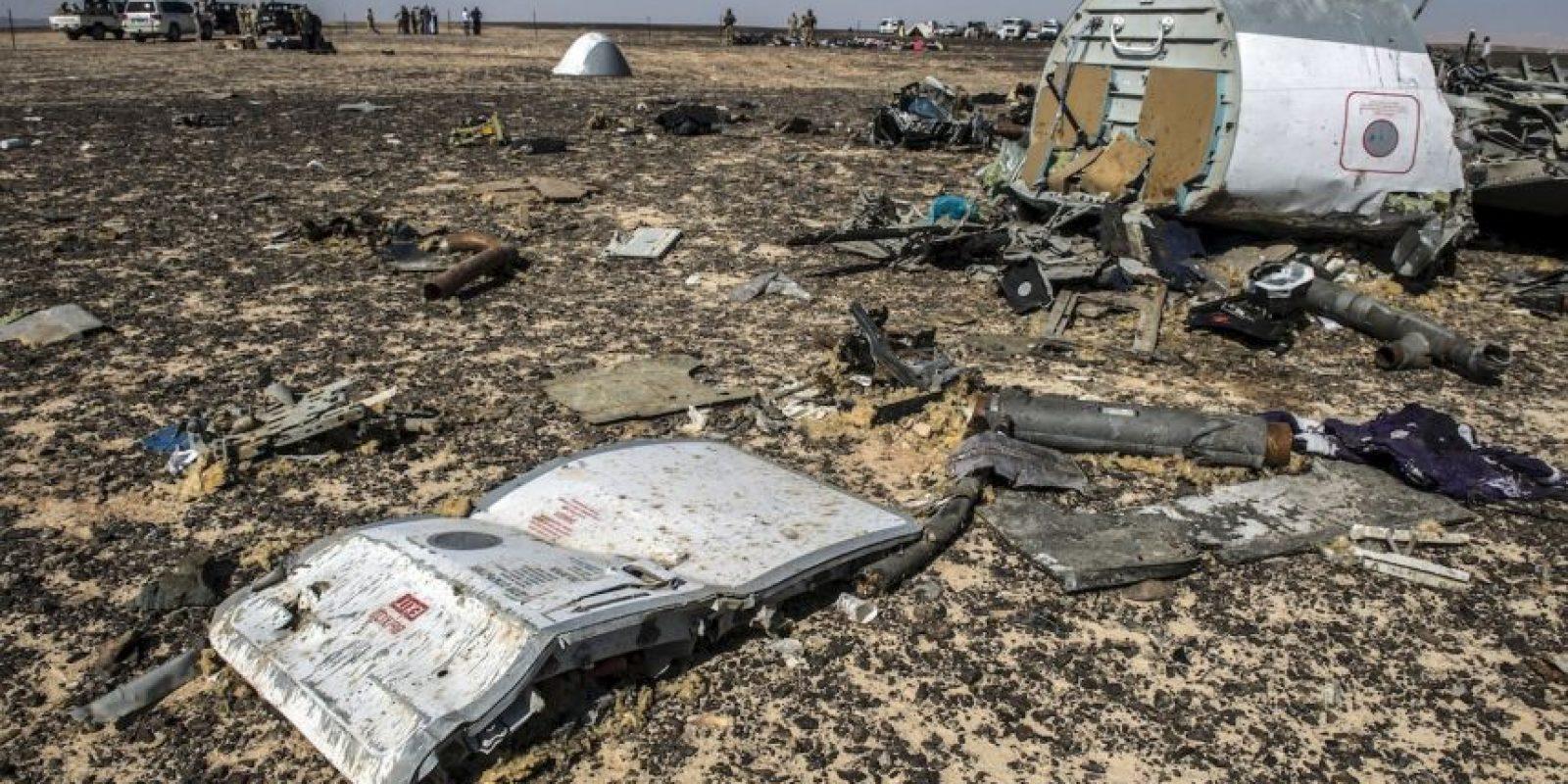 Se estrelló en la Península del Siani, en Egipto Foto: AFP