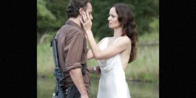 """Madre de """"Carl"""" y esposa de """"Rick"""", comenzó una relación con """"Shane"""", excompañero de """"Rick"""" en los cuerpos policiales al creer que su esposo había fallecido Foto:AMC"""
