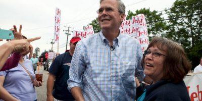 El ahora político reafirmó que de ser presidente de Estados Unidos construirá un muro entre el país y México para frenar la inmigración ilegal. También volvió a decir que hará que México pague dicha construcción. Foto:Getty Images