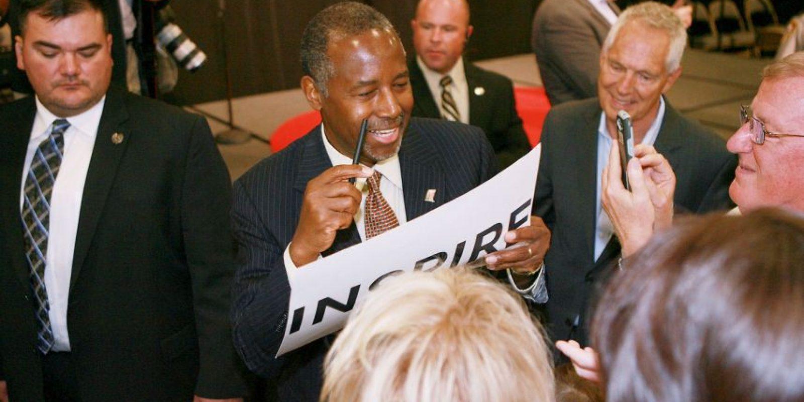 Ben Carson anunció su candidatura el pasado 4 de mayo. Foto:Getty Images