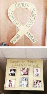 Además de este tributo que realiza para su hijo Lake en Facebook, también decidió que los acompañara en el día de su boda. Foto:Vía Facebook/PrayersForLakeBozman