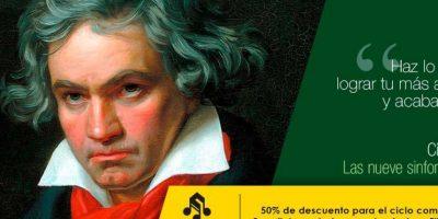 Concierto de la orquesta filarmónica de Medellín, Las 9 sinfonías de Beethoven. Foto:Tomada de filarmed.com
