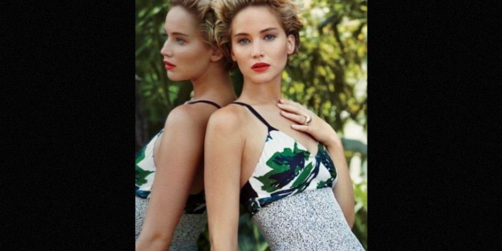"""Cuando posó desnuda: Luego del polémico """"celebgate"""", para la edición de marzo de la revista """"Vanity Fair"""", la actriz aceptó posar desnuda. Foto:Vanity Fair"""