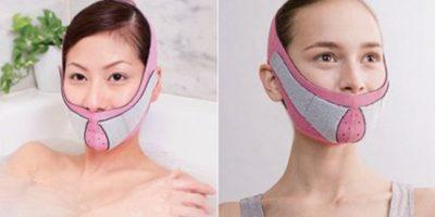 El cinturón antiarrugas es una banda de nylon que sirve para ejercitar el rostro Foto: japantrendshop.com