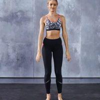 Se colocan las piernas separadas a la misma distancia que los hombros… Foto:victoriassecret.com