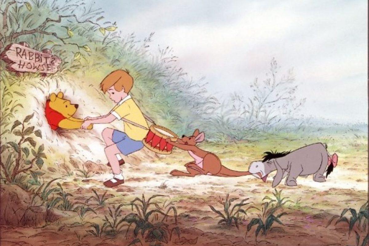 """En la historia de Disney, """"Winnie"""" y sus amigos eran juguetes reales de """"Christopher Robin"""". Foto:Walt Disney"""