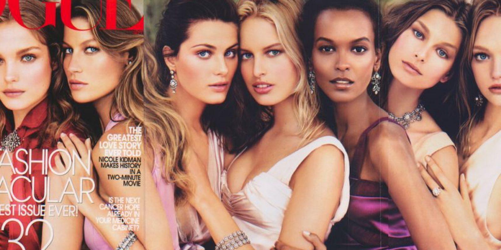¿Qué esconde el rostro de mujeres tan bellas y sobrepagadas? Foto:vía Vogue
