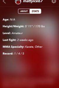 Les mostrarán sus datos personales, tales como peso, talla y habilidades en las artes marciales Foto:Getrumblr.com