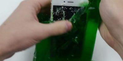 8- Fue dejado 24 horas con gelatina. Foto:TechRax / YouTube