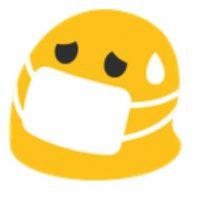 Enfermo en Android. Foto:vía emojipedia.org